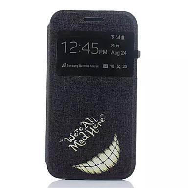 Capinha Para Samsung Galaxy Samsung Galaxy Capinhas Com Suporte com Visor Flip Capa Proteção Completa Palavra / Frase PU Leather para J1