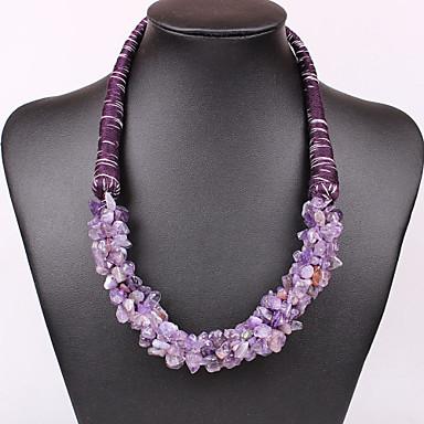 Γυναικεία Κολιέ Δήλωση Πέτρα & κρύσταλλο Συνθετικοί πολύτιμοι λίθοι Cubic Zirconia Κράμα Κοσμήματα Βίντατζ Χαριτωμένο Πάρτι Καθημερινό