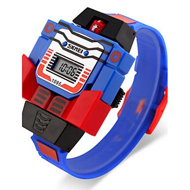 SKMEI Homens Relógio de Pulso Quartzo Calendário LCD Borracha Banda Desenho Azul Vermelho Cinza Amarelo