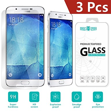 magic spider®0.26mm bescherming 2.5d schade gehard glas screen protector voor de Samsung Galaxy a8 (3 stuks)