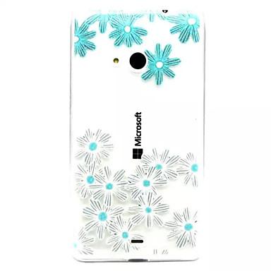 Για Θήκη Nokia Θήκες Καλύμματα Διαφανής Ανάγλυφη Πίσω Κάλυμμα tok Λουλούδι Μαλακή TPU για Nokia Nokia Lumia 535 Nokia Lumia 435