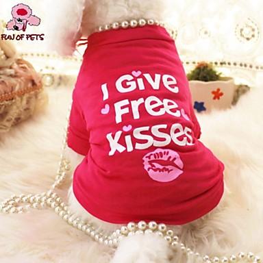 Kat Hond T-shirt Hondenkleding Cosplay Bruiloft Letter & Nummer Harten Roos Kostuum Voor huisdieren