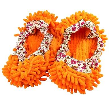chinelos chenille limpar o laranja tampa da sapata preguiçoso andar
