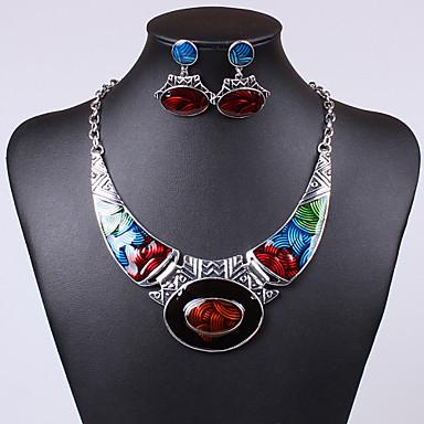 Γυναικεία Κρυστάλλινο Κοσμήματα Σετ - Κρύσταλλο, Cubic Zirconia Μοναδικό, Βίντατζ, Πάρτι Περιλαμβάνω Κρεμαστά Σκουλαρίκια / Κρεμαστά Κολιέ Πράσινο / Μπλε / Ουράνιο Τόξο Για / Cercei