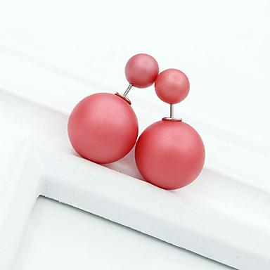 Brincos Curtos Brincos Compridos Cristal Strass Liga Vermelho Verde Azul Rosa claro Verde Claro Jóias Para Casamento Diário 1peça