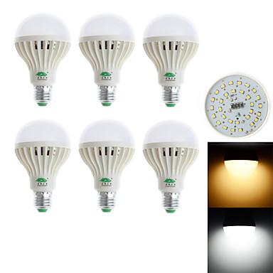 850-900 lm E26/E27 LED 글로브 전구 G60 28 LED가 SMD 3528 장식 따뜻한 화이트 차가운 화이트 AC 85-265V