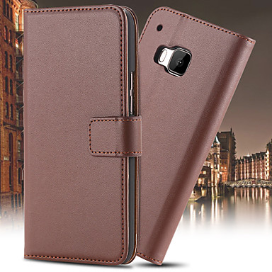 Voor HTC hoesje Kaarthouder / Portemonnee / met standaard / Flip hoesje Volledige behuizing hoesje Effen kleur Hard PU-leer HTC