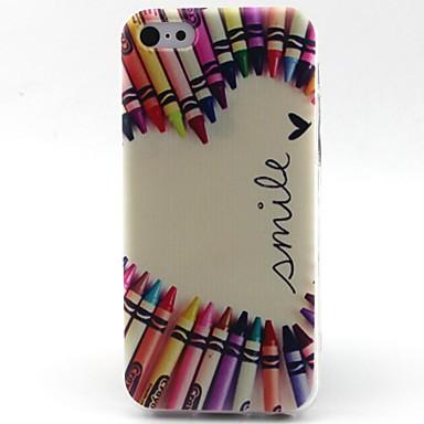 hart patroon TPU materiaal telefoon Case voor iPhone 5c