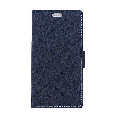 Voor HTC hoesje Kaarthouder / Portemonnee / met standaard / Flip hoesje Volledige behuizing hoesje Geometrisch patroon Hard PU-leer HTC