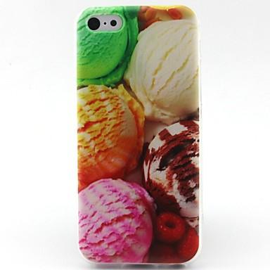 sorvete caso de telefone TPU padrão bola para iphone 5c
