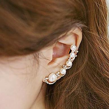 Femme Perle Imitation de perle Zircon Poignets oreille - Personnalisé Mode Or Des boucles d'oreilles Pour