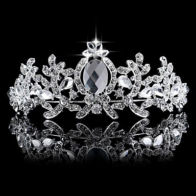 Bruiloft/Feest - Tiara'S (Kristal , Zilver)