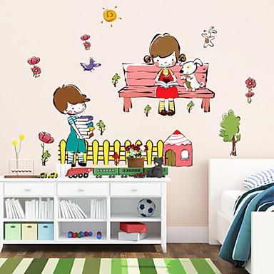 αυτοκόλλητα τοίχου αυτοκόλλητα τοίχου αγόρια και κορίτσια στυλ μάθησης αυτοκόλλητα τοίχου λίγο PVC συνεργάτη