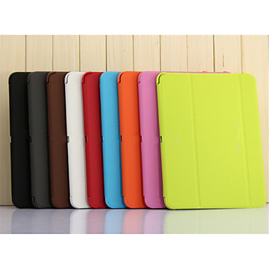 hoesje Voor Samsung Galaxy Tabblad Een 9.7 Samsung Galaxy hoesje met standaard Flip Origami Volledig hoesje Effen Kleur PU-nahka voor Tab