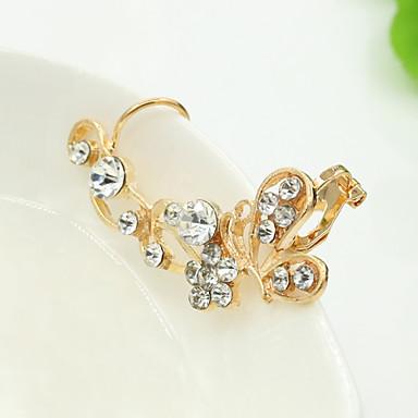 Oorknopjes Kristal Strass Legering Zilver Gouden Sieraden Voor Bruiloft Dagelijks 1 stuks