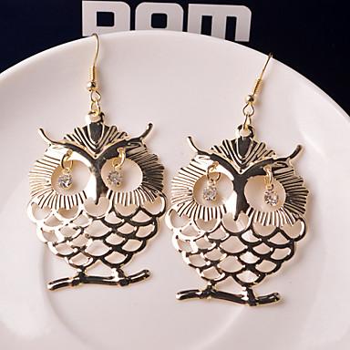 Dames Uil Druppel oorbellen - Zilver Gouden Dier oorbellen Voor Bruiloft Feest Dagelijks