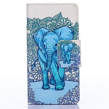 Para Capinha Huawei / P8 Carteira / Porta-Cartão / Com Suporte Capinha Corpo Inteiro Capinha Elefante Rígida Couro PU HuaweiHuawei P8 /