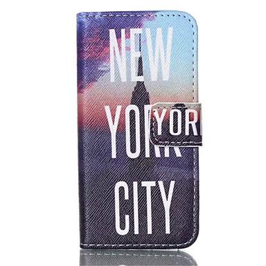 Capinha Para Capinha iPhone 5 Carteira Porta-Cartão Com Suporte Flip Estampada Corpo Inteiro Palavra / Frase Rígida Couro Ecológico para