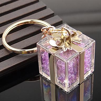 Cristal cadou cutie forma cheie lanț inel sac decorator organizator titular pentru iubitor de cadou de nunta