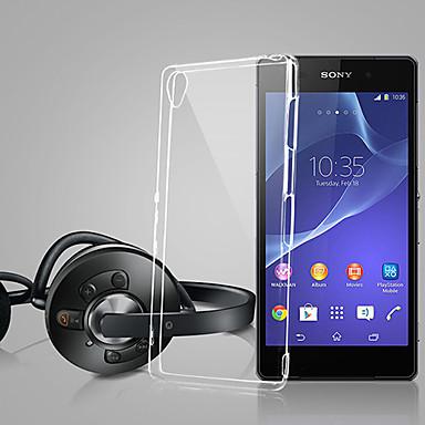 Για Θήκη Sony / Xperia Z3 Εξαιρετικά λεπτή / Διαφανής tok Πίσω Κάλυμμα tok Μονόχρωμη Μαλακή TPU για Sony Sony Xperia Z3 / Sony Xperia Z2