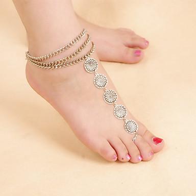 Dames Enkelring / Armbanden Legering Vintage Schattig Feest Werk Informeel Folk Style Meerlaags Enkelring Sieraden Voor