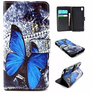 tok Για Sony Xperia M4 Aqua Sony Θήκη Sony Πορτοφόλι Θήκη καρτών με βάση στήριξης Ανοιγόμενη Πλήρης κάλυψη Πεταλούδα Σκληρή PU δέρμα για