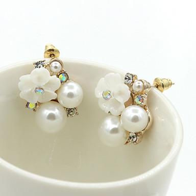 Σκουλαρίκι Κουμπωτά Σκουλαρίκια / Κρεμαστά Σκουλαρίκια Κοσμήματα 1pc Γάμου / Καθημερινά Κρύσταλλο / Κράμα / Στρας ΓυναικείαΧρυσαφί /