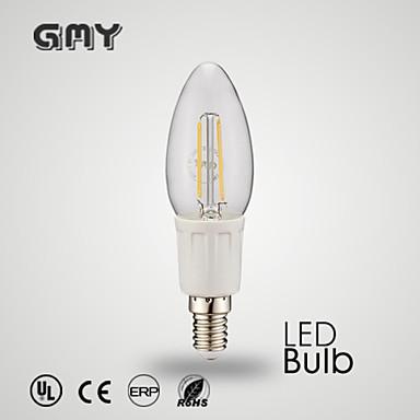 E12 Luzes de LED em Vela C35 8 leds COB Decorativa Branco Quente Branco Frio ≥380lm 2700-6500K AC 110-130V