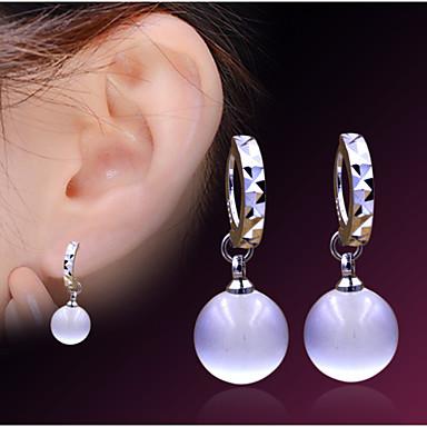 Dames Druppel oorbellen Verzilverd Opaal  Sieraden Schermkleur Kostuum juwelen