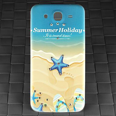 broca e verão padrão praia pc de volta caso capa para Samsung Galaxy i9152 mega-