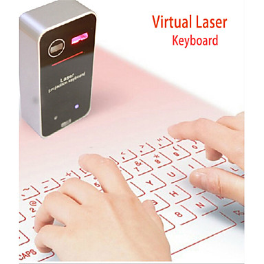 usb ultra-portátil teclado virtual laser de projeção sem fio 2.0 para HID super-chave completa