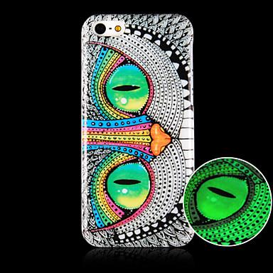 o padrão da coruja caso de telefone luminosa tampa traseira caso para iphone5c