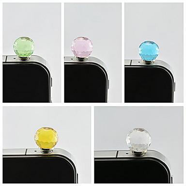 Crystal Ball 3.5mm Dustproof Plug for iPhone Sumsung(Random Color)