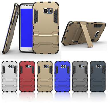 speciale ontwerp pc siliconen achterkant geval met standaard voor Samsung Galaxy S5 / s6 / s6 rand (verschillende kleuren)