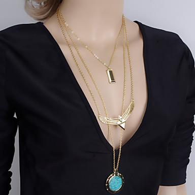cd0da4c5d6e4 Mujer Collares con colgantes collar largo Resina damas Europeo Moda Dorado  Gargantillas Joyas Para Fiesta Diario