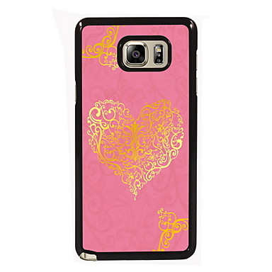 Voor Samsung Galaxy Note Hoesje cover Patroon Achterkantje hoesje Hart PC voor Samsung Note 5 Edge Note 5 Note 4 Note 3