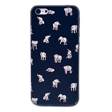아이폰 5c에 대한 인도 코끼리 명 패턴 하드 케이스