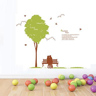 muurstickers muur stickers stijl groene boom liefhebbers pvc muurstickers
