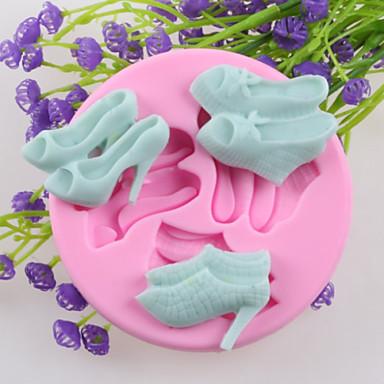 drie paar hoge hakken fondant cake chocolade siliconen mallen, decoratie gereedschap bakvormen