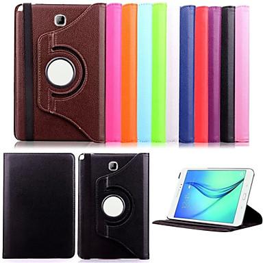 Кейс для Назначение SSamsung Galaxy Вкладка 9,7 Вкладка 8,0 Кейс для  Samsung Galaxy со стендом Флип Чехол Сплошной цвет Кожа PU для