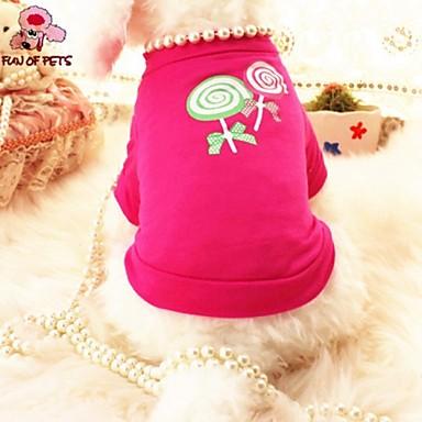 Gato Cachorro Camiseta Roupas para Cães Fantasias Casamento Pérola Rosa Ocasiões Especiais Para animais de estimação