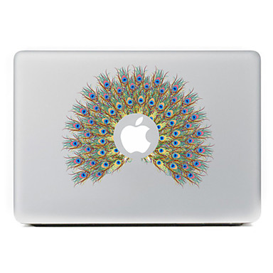 de pauw bloemen decoratieve skin sticker voor MacBook Air / Pro / Pro met Retina-display