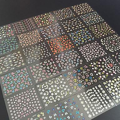 Цветы/Абстракция - 3D наклейки на ногти - Пальцы рук/Пальцы ног - 6.5X5X0.5 - 30 - Прочее