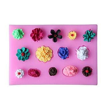 ψήσιμο Mold Λουλούδι Σοκολατί Πίτες Κέικ Καουτσούκ Σιλικόνης Φιλικό προς το περιβάλλον Υψηλή ποιότητα 3D