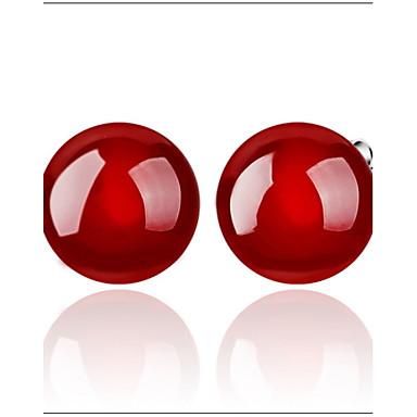 Punhos da orelha Ágata Preto Vermelho Jóias Para Diário Casual Esportes 2pçs