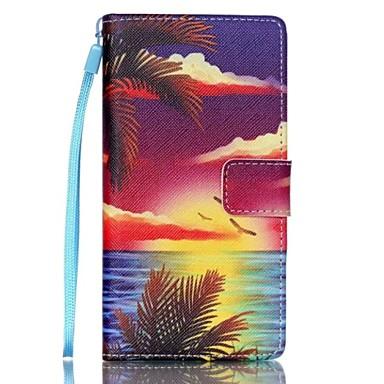 Για Θήκη Huawei P8 Lite Θήκες Καλύμματα Πορτοφόλι Θήκη καρτών με βάση στήριξης Ανοιγόμενη Πλήρης κάλυψη tok Τοπίο Σκληρή PU Δέρμα για