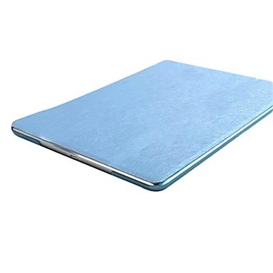 Voor Hoesje cover met standaard Origami Volledige behuizing hoesje Effen Kleur Hard PU-leer voor Apple iPad (2017) iPad Pro 9.7 '' iPad