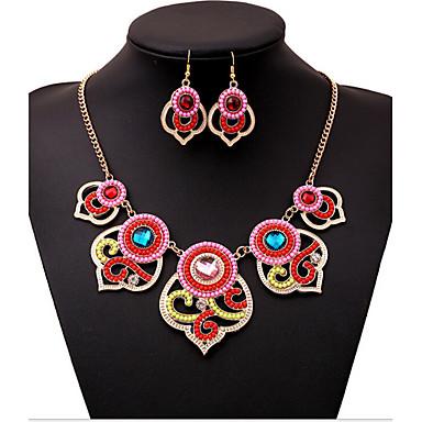 Γυναικεία Cubic Zirconia Κοσμήματα Σετ Περιλαμβάνω Cercei Κολιέ - Βίντατζ Πάρτι Γραφείο Μοντέρνο Ευρωπαϊκό Σετ Κοσμημάτων Για