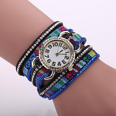 Xu™ 여성용 팔찌 시계 패션 시계 석영 섬유 밴드 블랙 블루 레드 브라운 퍼플