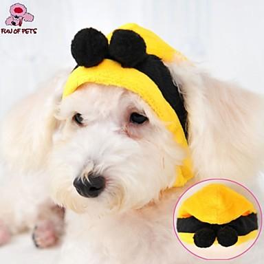 Kat Hond kostuums Outfits Bandana's & Hoeden Hondenkleding Cosplay Bruiloft Halloween Geel Kostuum Voor huisdieren
